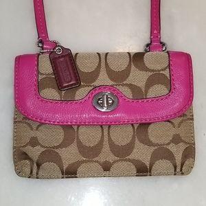 Coach Twist Lock Wallet Crossbody Mini Bag